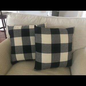 Other - 2 down gilled buffalo check pillows
